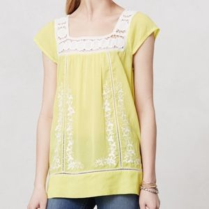 Anthropologie moulinette soeurs aureolin tunic